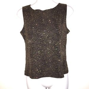 Dress Barn Gold Metallic Sleeveless Top
